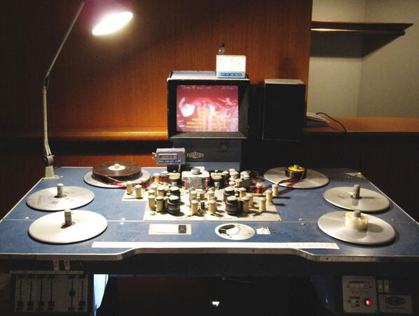 old film editing table